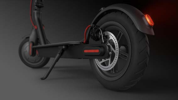 Electric scooter tire size