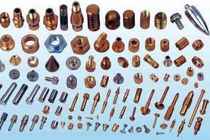 Micro-machined copper parts